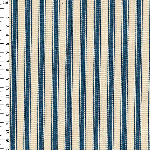 100% Cotton Canvas Ticking Stripe - 150cm Wide - Blue JLC0118