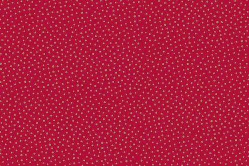 Makower Metallic Spot Red