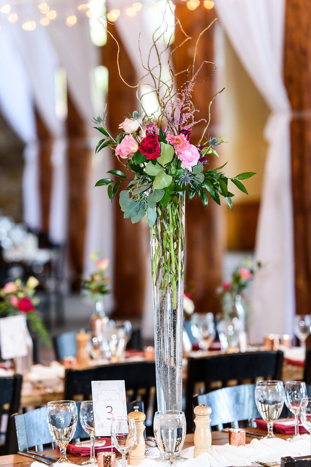 Keystone Wedding Planner - Timber Ridge Wedding - Centerpiece