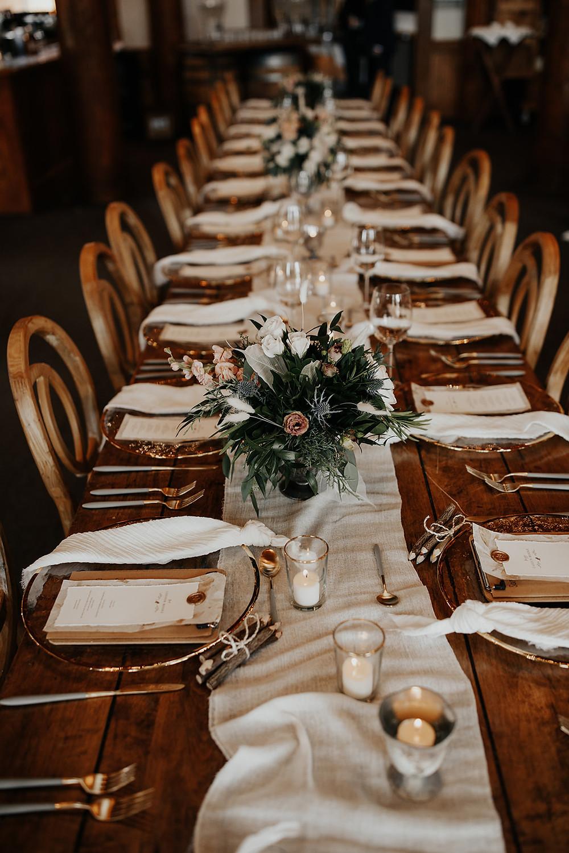 Keystone Wedding Planner - Table Scape - Timber Ridge Wedding