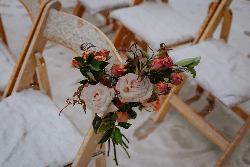 Breckenridge Wedding - Breckenridge Winter Wedding - The Lodge at Breckenridge Wedding - Aisle Flowers