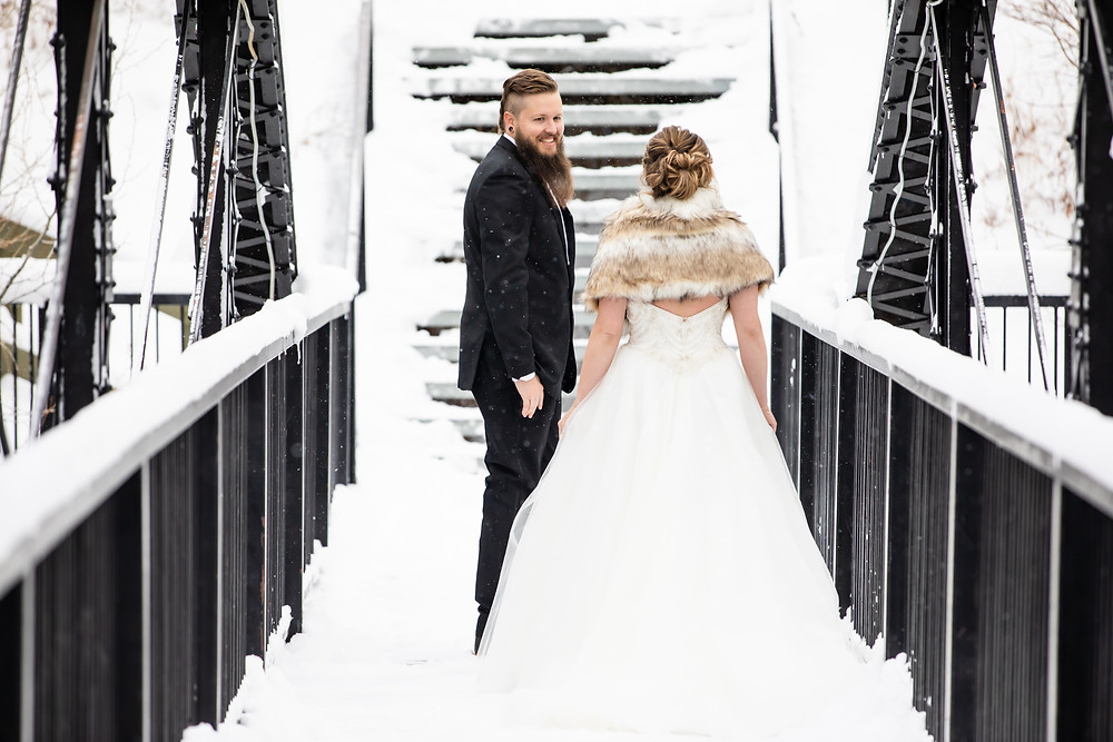 Silverthorne Wedding Planner - Colorado Winter Wedding- First Look