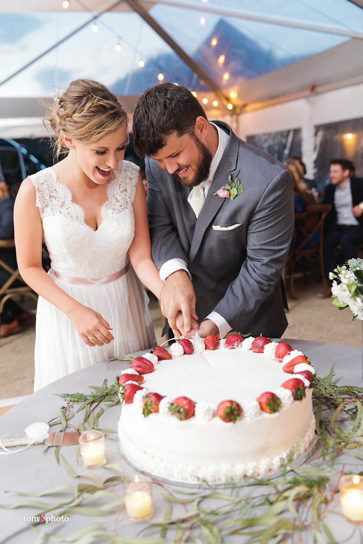 Breckenridge Wedding - Cake Cutting