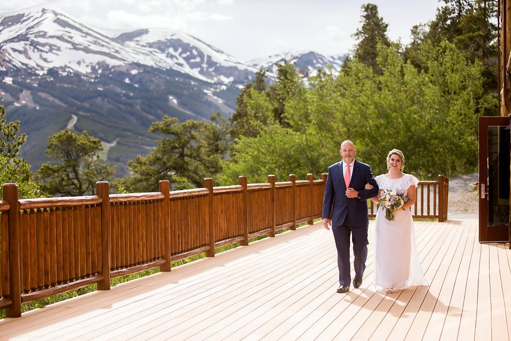 The Lodge at Breckenridge Wedding - Father Daugther - Colorado Wedding