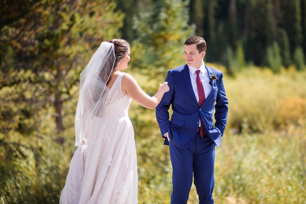 Keystone Wedding, First Look, Timber Ridge Wedding
