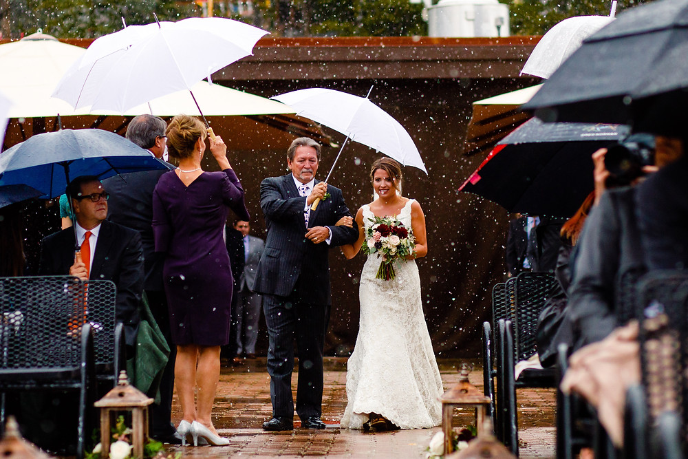 Breckenridge Wedding Planner - Bride and her dad
