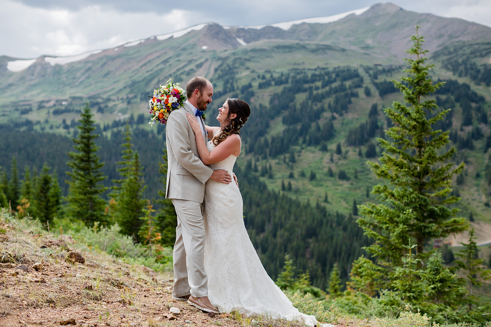 Breckenridge Wedding - Ten Mile Station Wedding - Bride and Groom