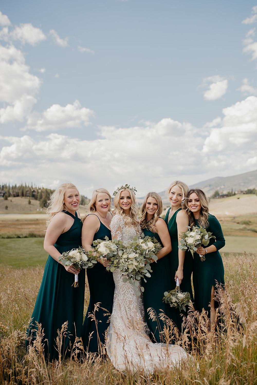 Keystone Wedding - Keystone Ranch Wedding - Bride and Bridesmaids