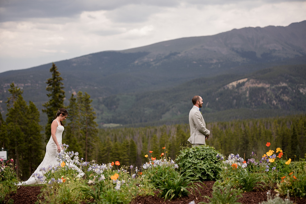 Breckenridge Wedding - Ten Mile Station Wedding - First Look
