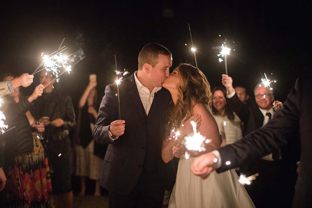 Breckenridge Wedding Planner - Ten Mile Station Wedding - Sparkler Exit
