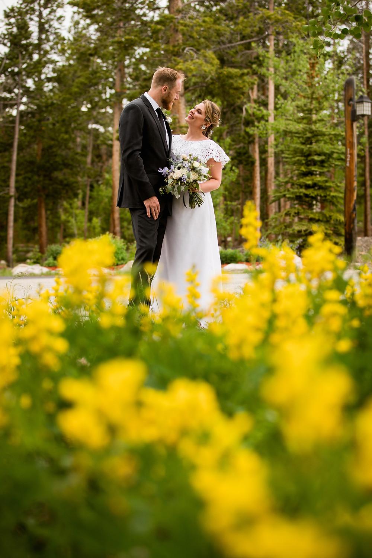 The Lodge at Breckenridge Wedding - Bride and Groom