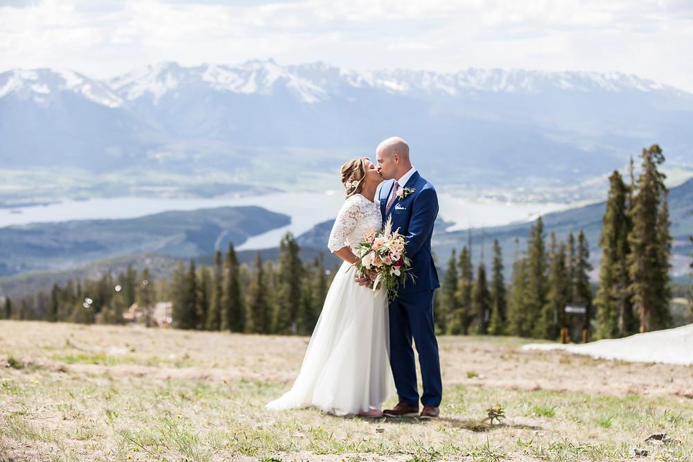 Keystone Wedding, First Look , Ski Tip Lodge Wedding