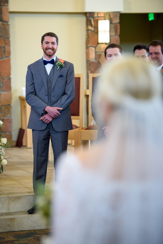 Wedding Ceremony, Groom's Reation