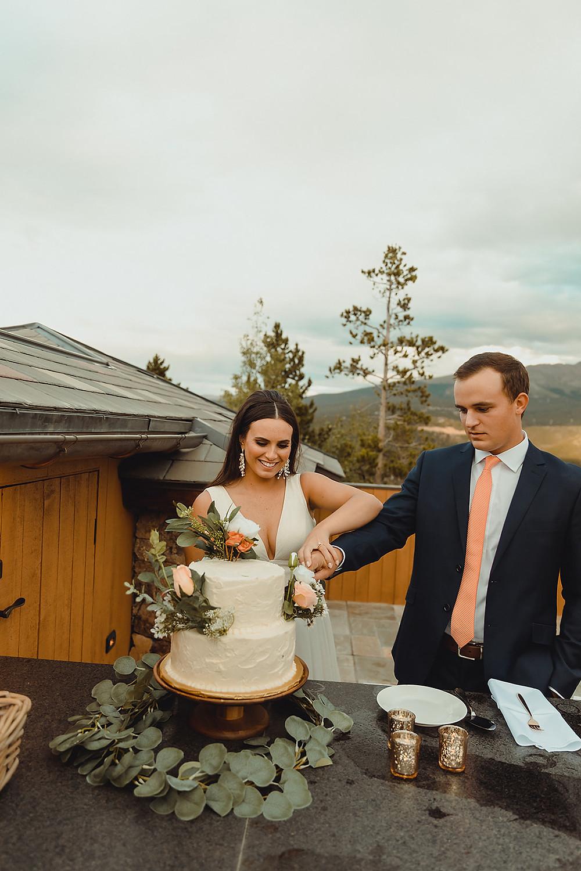 Chateau of Breckenridge Wedding - Breckenridge Wedding - Cake Cutting