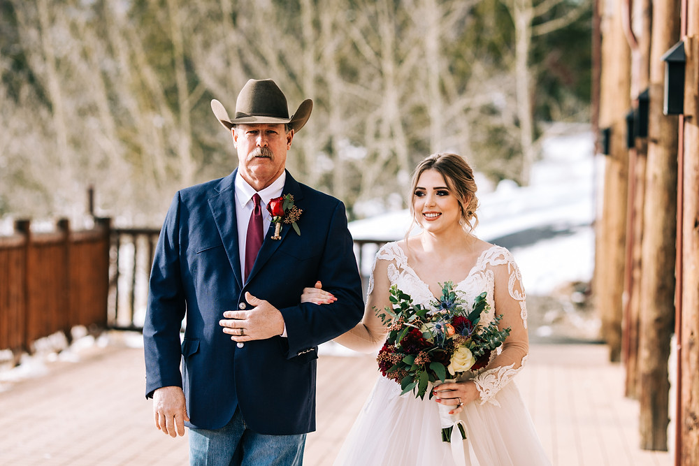 The Lodge at Breckenridge Wedding; Father Daughter