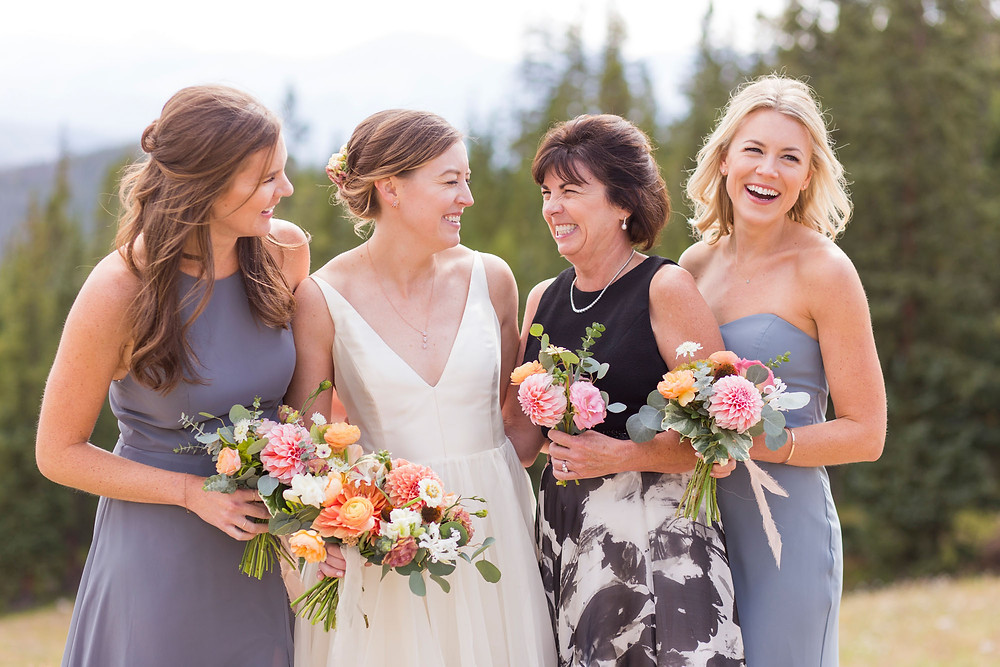 Colorado Wedding - Timber Ridge Wedding - Bride and her girls