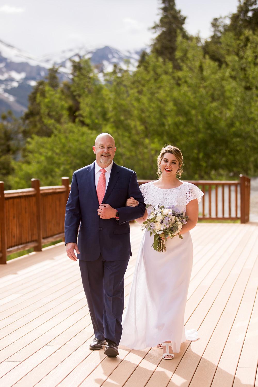 The Lodge at Breckenridge Wedding - Colorado Wedding - Father Daughter
