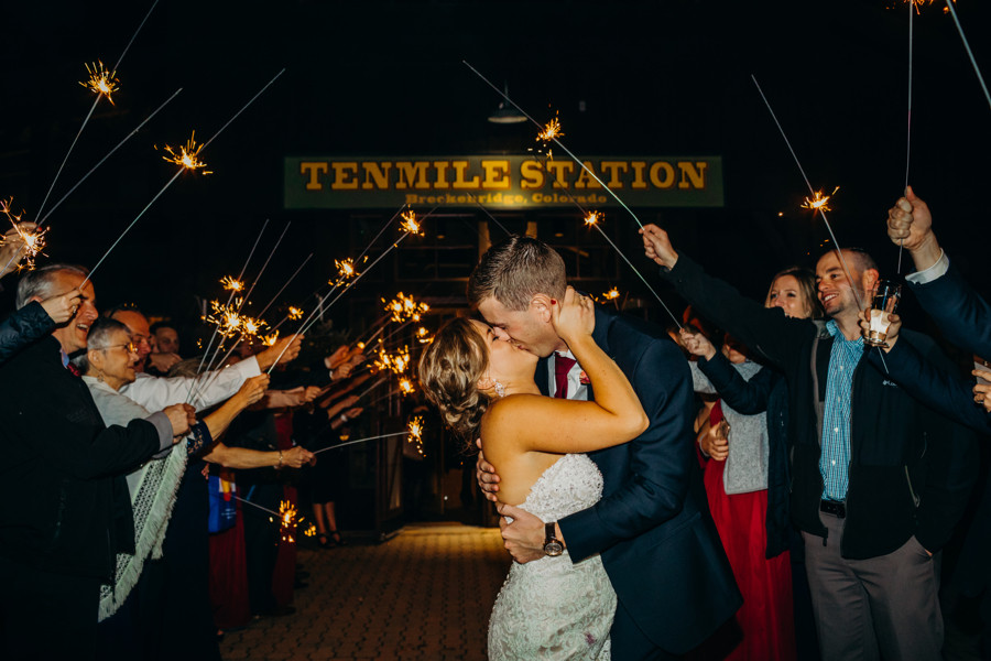 Breckenridge Wedding - Ten Mile Station Wedding - Grand Exit