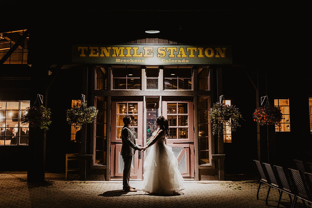 Ten Mile Station Wedding - Breckenride Wedding - Bride and Groom