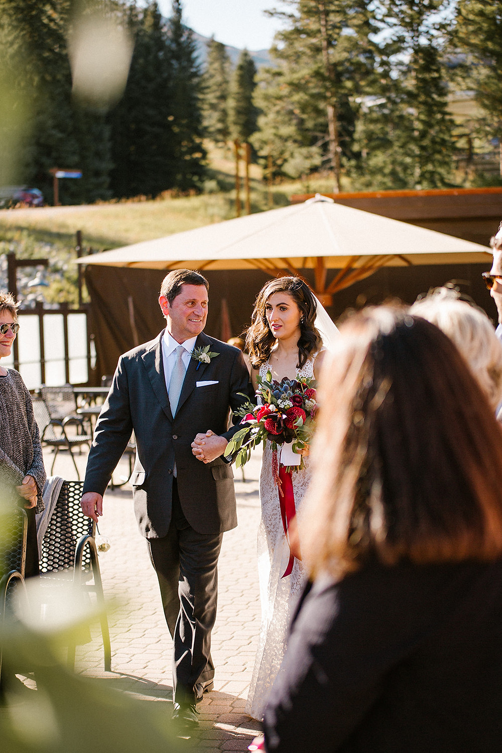 Breckenridge Wedding Planner - Ten Mile Station Wedding - Bride and Father