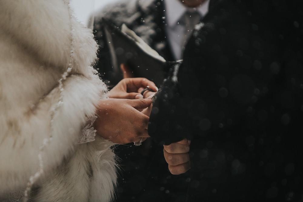 Breckenridge Wedding - Breckenridge Winter Wedding - The Lodge at Breckenridge Wedding - Ring Exchange