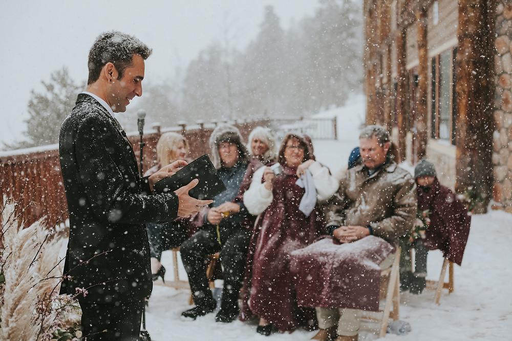 Breckenridge Wedding - Breckenridge Winter Wedding - The Lodge at Breckenridge Wedding - Officiant