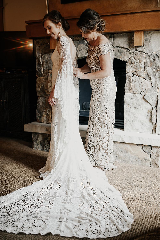 Timber Ridge Wedding - Keystone Colorado Wedding - Wedding Dress