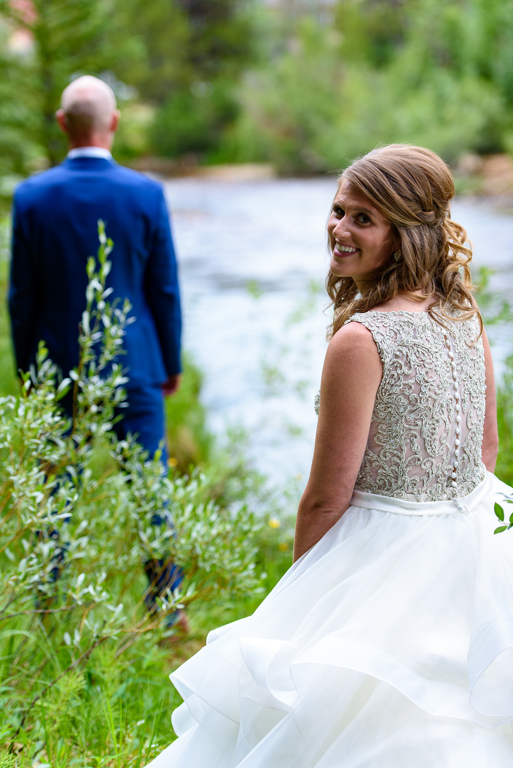 Keystone Wedding Planner - Timber Ridge Wedding - First Look