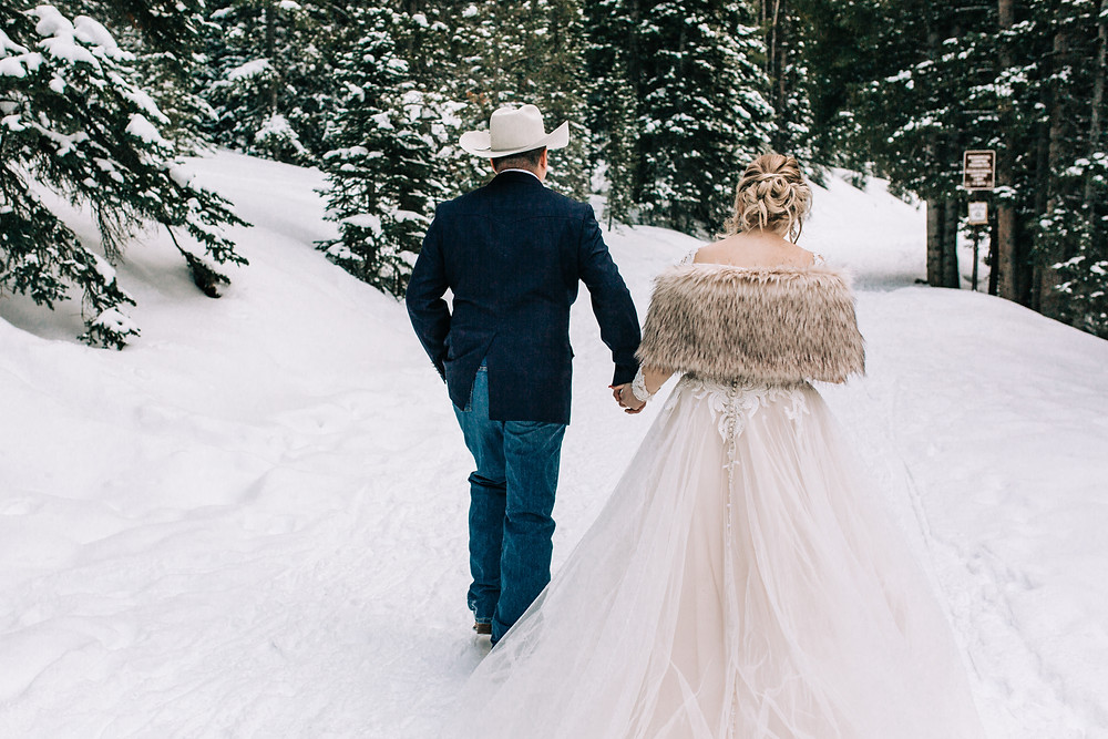 The Lodge at Breckenridge Wedding - Bride and Groom