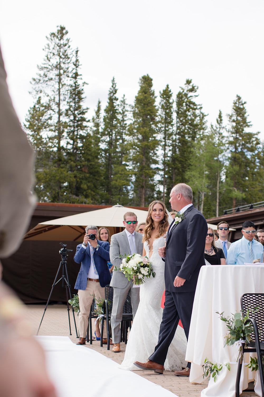 Father Daughter, Breckenridge Wedding, Ten Mile Station Wedding