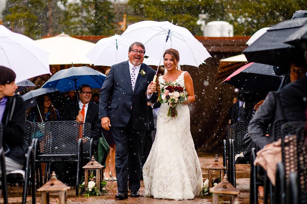 Breckenridge Wedding Planner - Bride walking down the aisle