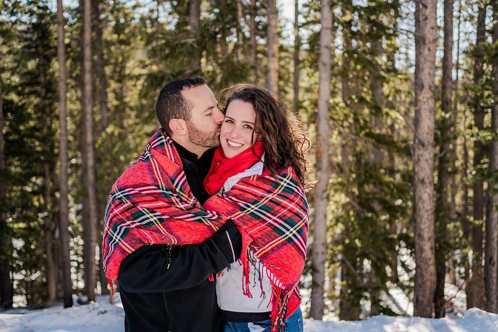 Silverthorne Wedding Couple - Mountain Winter Wedding