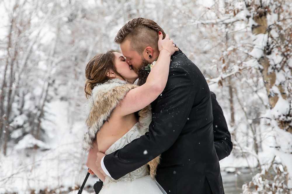 Silverthorne Wedding Planner - Colorado Winter Wedding - First Kiss
