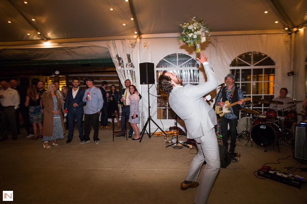 Keystone Wedding - Keystone Ranch Wedding - Bouquet Toss
