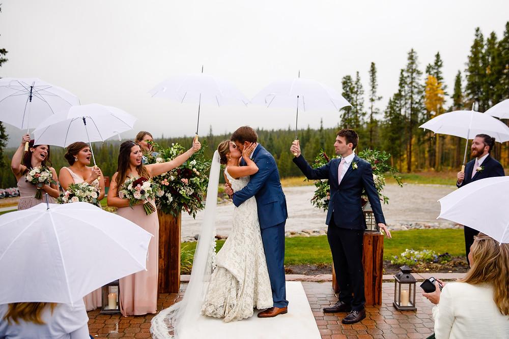 Breckenridge Wedding Planner - Wedding First Kiss