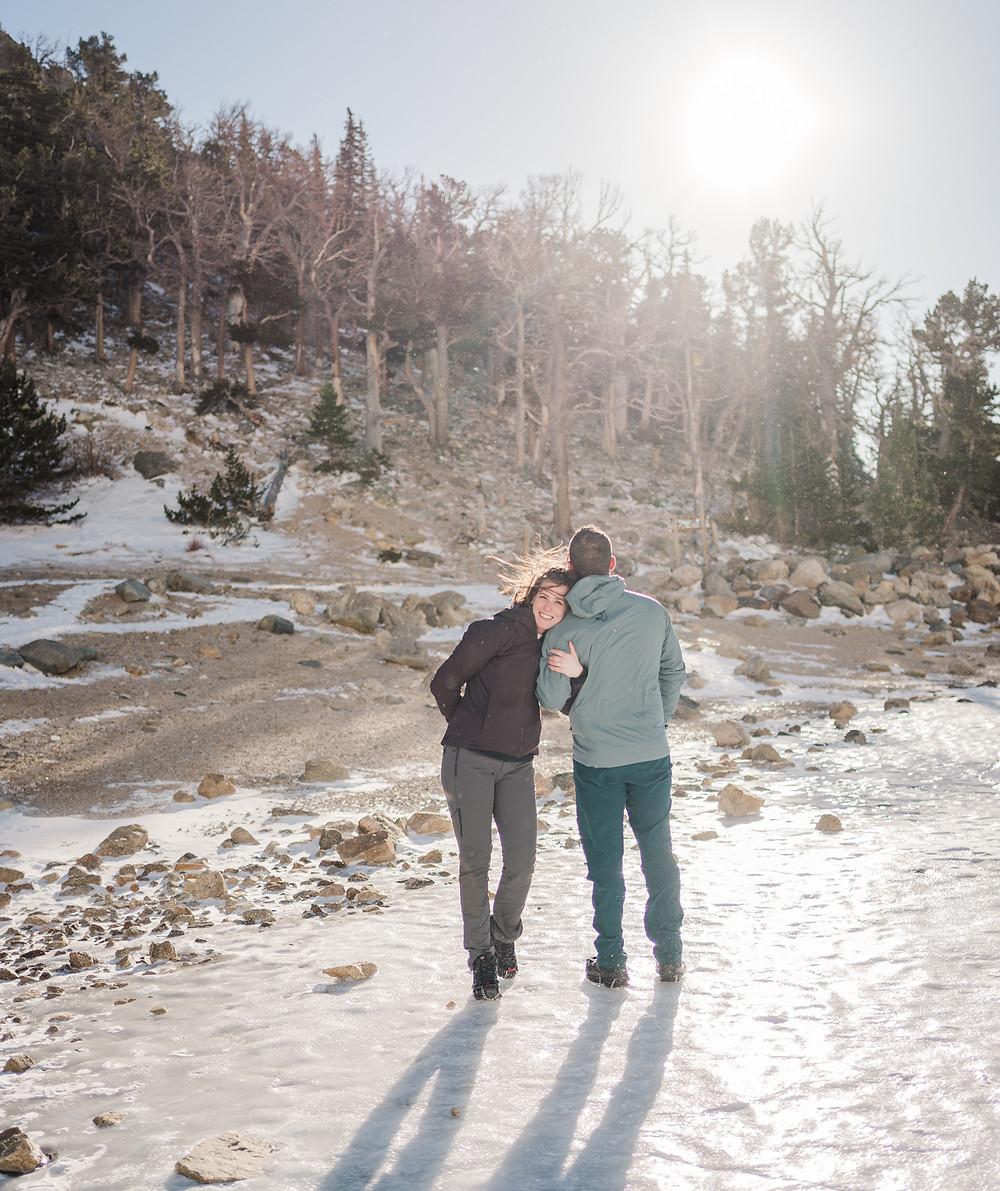 Silverthorne Wedding Engagment Shoot - Bride and Groom