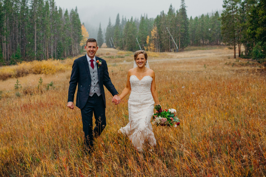 Breckenridge Wedding - Ten Mile Station Wedding - Bride and Groom