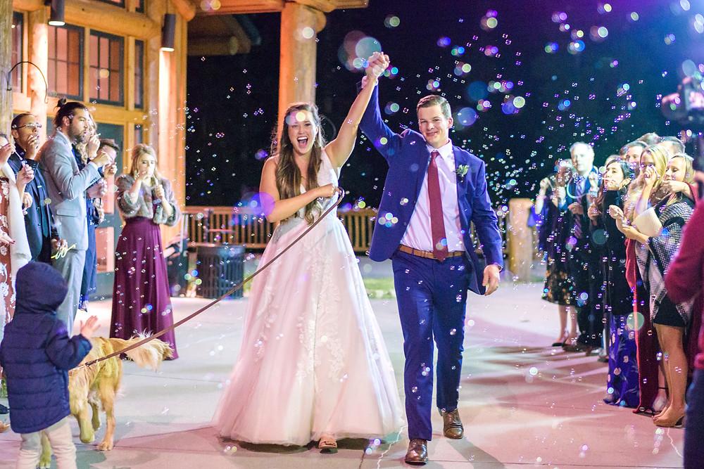 Keystone Wedding Couple, Grand Exit, Timber Ridge Wedding