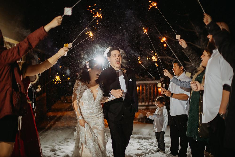Breckenridge Wedding - Breckenridge Winter Wedding - The Lodge at Breckenridge Wedding - Grand Exit