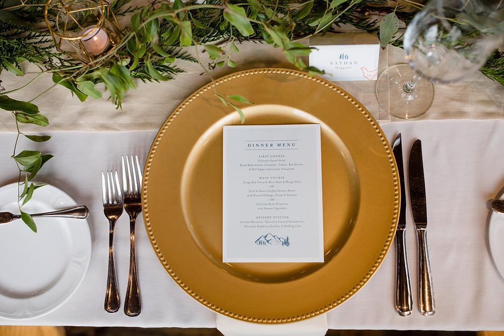 Breckenridge Wedding Planner - Ten Mile Station Wedding - Table Scape