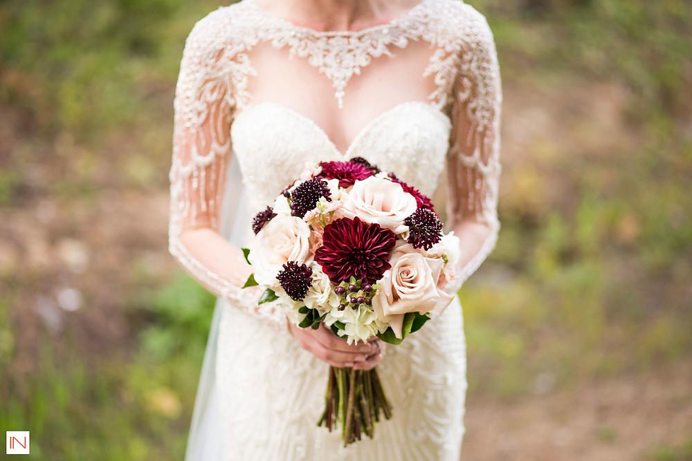 Breckenridge Wedding Planner - Bridal Gown and Bouquet