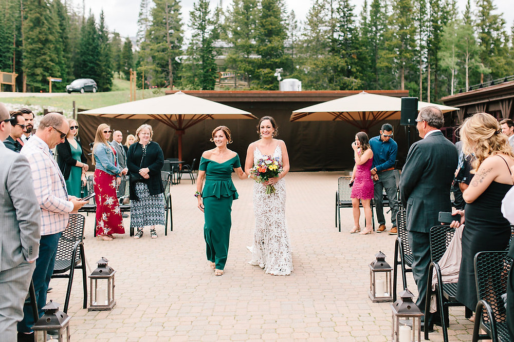 Breckenridge Wedding Planner - Ten Mile Station Wedding - Bride walking down the aisle