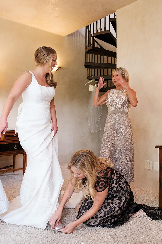 Breckenridge Wedding - Bride and her mother