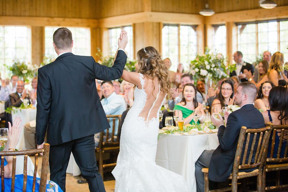 Breckenridge Wedding Couple Grand Entrance, Ten Mile Station Wedding