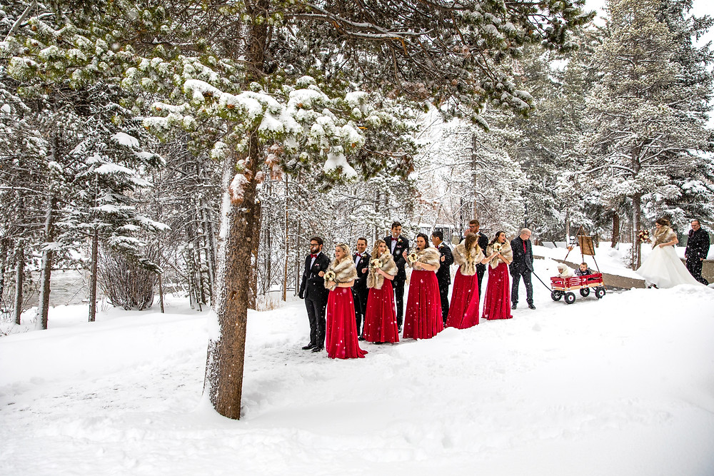 Silverthorne Wedding Planner - Colorado Winter Wedding - Wedding Party