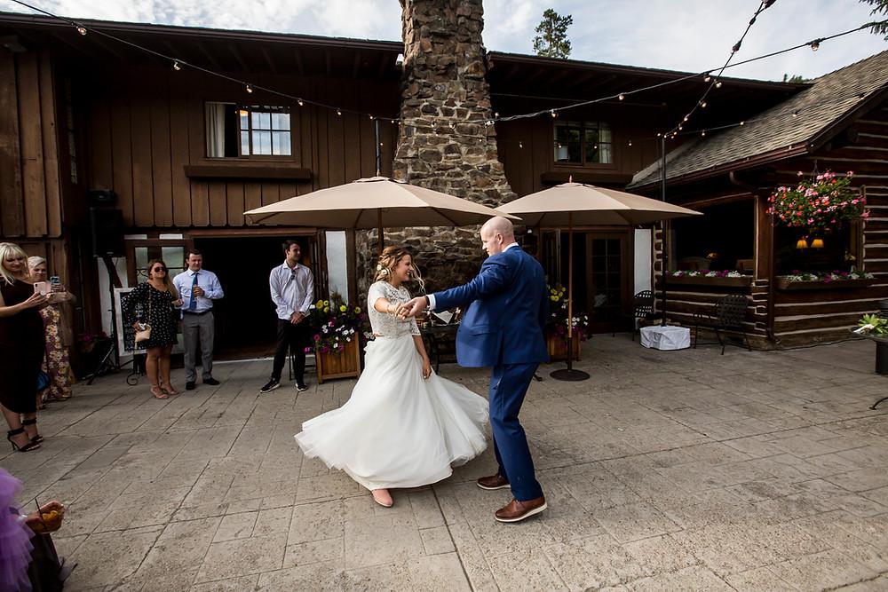 Keystone Wedding, First Dance, Ski Tip Lodge Wedding