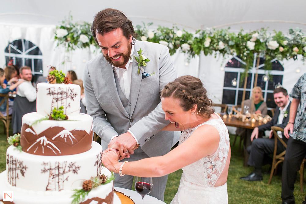 Keystone Wedding - Keystone Ranch Wedding - Cake Cutting