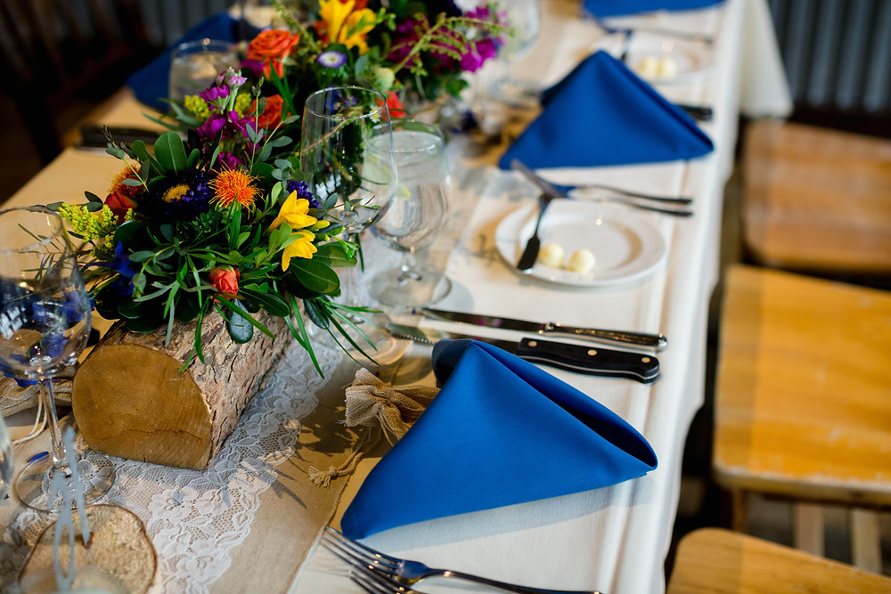 Breckenridge Wedding - Ten Mile Station Wedding - Centerpiece