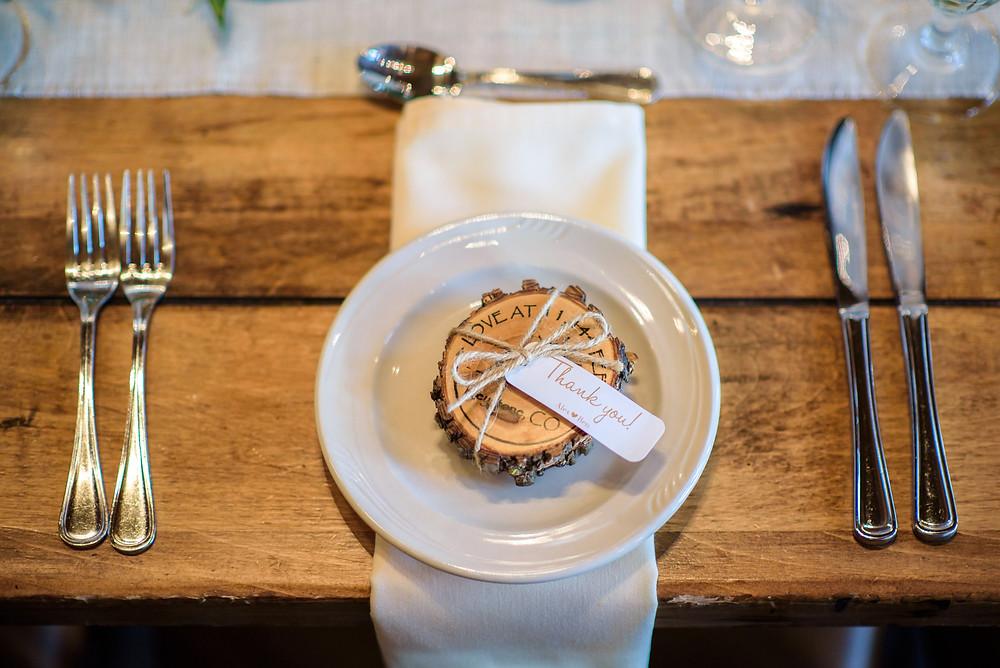 Keystone Wedding Favor, Timber Ridge Wedding