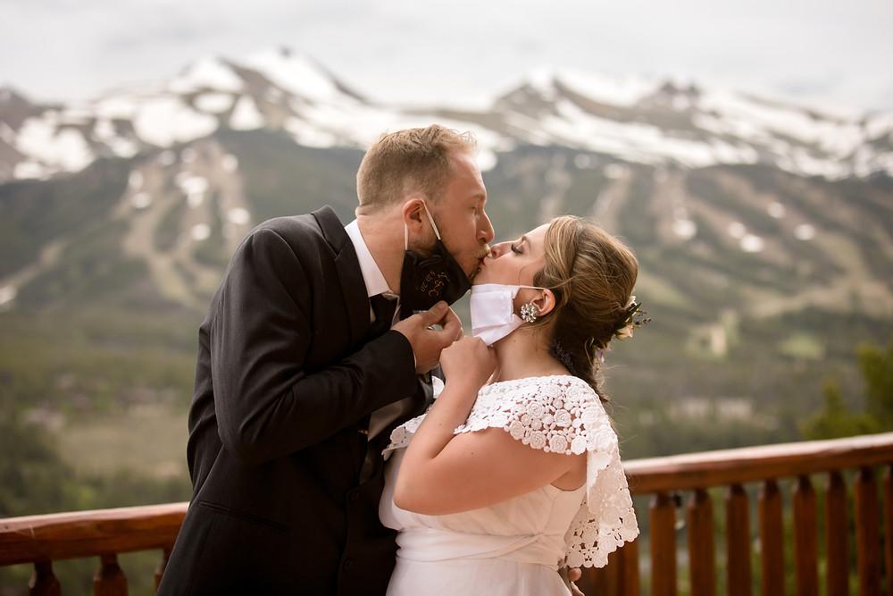 The Lodge at Breckenridge Wedding - Covid Wedding - Bride and Groom